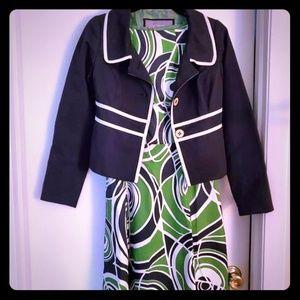 Shift dress with matching blazer